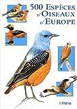 500 espèces d'oiseaux d'Europe