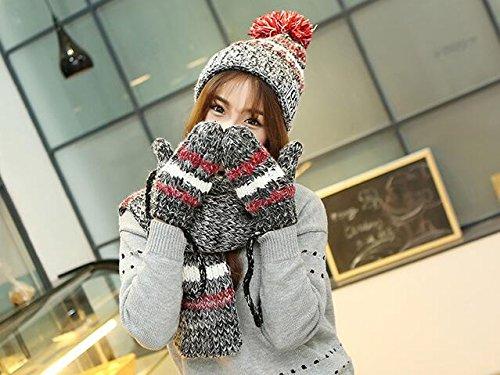 Generic - Ensemble bonnet, écharpe et gants - Fille Gris