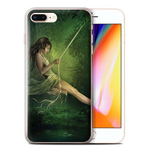 Officiel Elena Dudina Coque / Etui Gel TPU pour Apple iPhone 8 Plus / Couleurs d'Automne Design / Un avec la Nature Collection Balançoire Étang