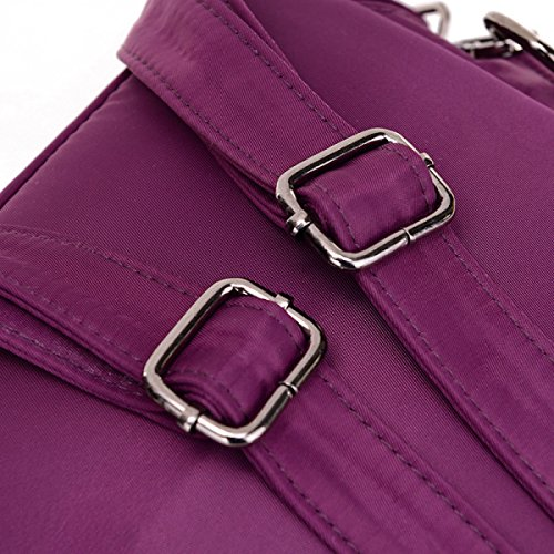 Oxford Tuch Studenten Große Kapazität Wasserdicht Licht Studie College Schultasche Purple