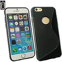 "Emartbuy® Apple Iphone 6 6G 6S 4.7 "" Zoll Ultra Slim Gel Hülle Schutzhülle Case Cover Schwarz"