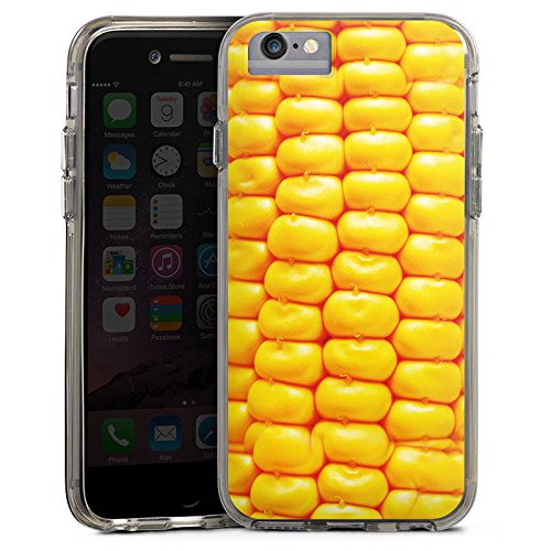 Apple iPhone 8 Bumper Hülle Bumper Case Glitzer Hülle Mais Bbq Grillen Bumper Case transparent grau