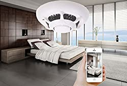 Accfly Wireless P2P Alarm Network Video Recorder IP Camcorder Home Security System WIFI Smoke Detector Camera from Q-05