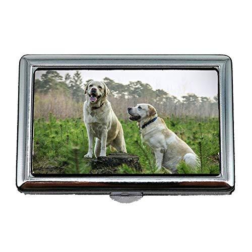 Zigarettenetui/Box, Labrador Rasse Hunde Tier Tiere, Visitenkartenetui Visitenkartenetui Edelstahl