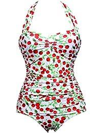 Kranchungel Mujer Bañadores Bañador Baño Ropa Playa Una Pieza Trajes Bikini Beachwear