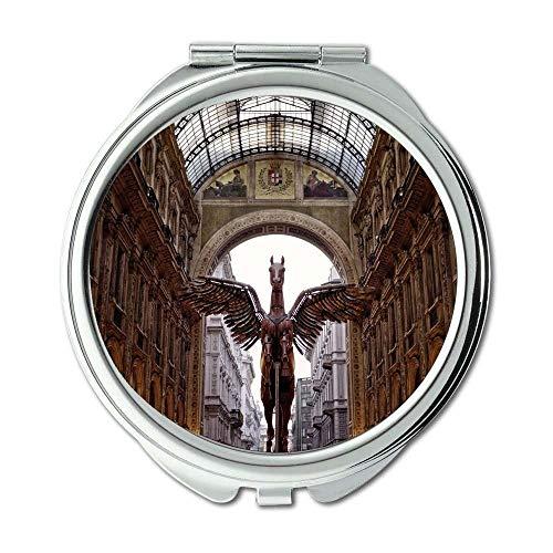 Yanteng Spiegel, Compact Mirror, Architekturgebäude Galerie, Taschenspiegel, tragbarer Spiegel