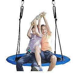 Jolitac Nestschaukel Tellerschaukel Garten-Schaukel Kinderschaukel für Kinder und Erwachsene (120 cm)