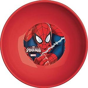 Ciao 33940-Plato hondo Spiderman Crawler, Rojo
