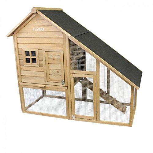 Conigliera conny in legno, 140x65x120 cm, gabbia per conigli