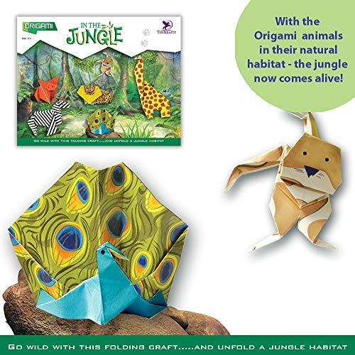 Papier Origami Dschungel Tiere Theater Kunst & Handwerk Set