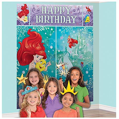 Disney Ariel The Little Mermaid Dream Big Scene Setters Wall Decorating Kit 5 Piece Set Party Supplies