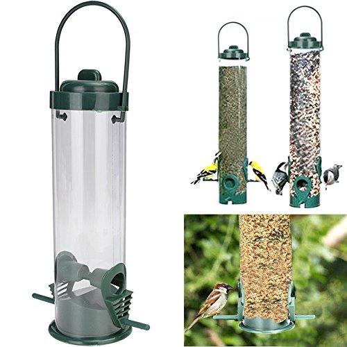 UEETEK-Alimentatore-per-uccelli-in-plastica-Alimentazione-del-pappagallo-appeso-Tubo-di-semi-trasparente