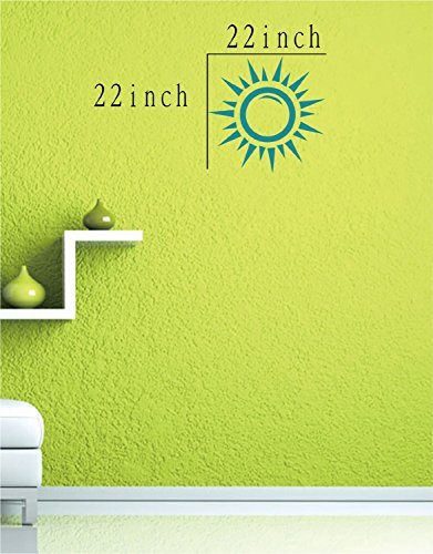 Large--Easy instant decoration wall sticker wall mural boy girl kids baby nursery room butterfly sun FL786