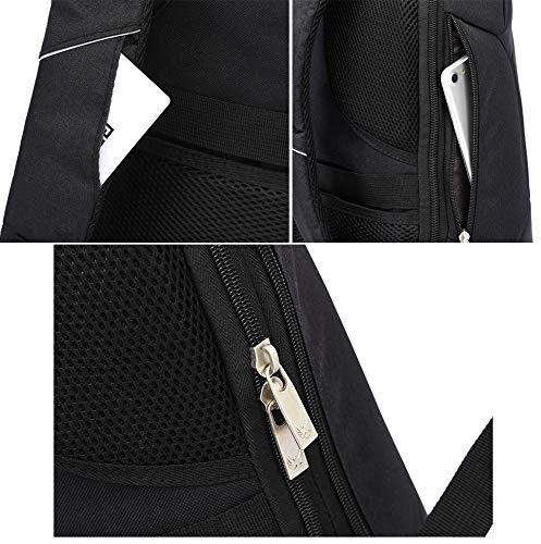 Fur Jaden 20L Black Anti Theft Bag 15.6 Inch Laptop Backpack with USB Charging Port Image 8