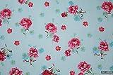 Rosa Blumen, 100% Baumwolle, für Kleider, Wimpel, Basteln,