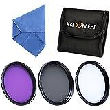 K&F Concept 67MM UV+CPL+FLD Filtro Kit de Accesorios de Lente UV Polarizador Circular Filtro para Canon 7D 700D 600D 70D 60D 650D 550D para Nikon D7100 D80 D90 D7000 D5200 D3200 D5100 D3200 D5300 DSLR Cámaras + Paño de Limpieza Micofibra