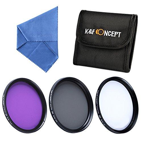 K&F Concept® Objektiv Filterset 40.5mm UV CPL FLD Filter 40.5mm Slim Schutzfilter Polfilter 40.5mm mit Kamera Zubehör Objektiv Mikrofaser Reinigungstuch und 3 Fächer Filtertasche