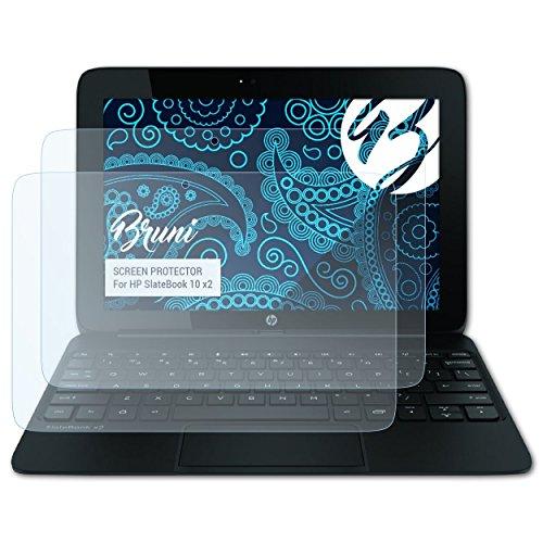 Bruni Schutzfolie kompatibel mit HP SlateBook 10 x2 Folie, glasklare Displayschutzfolie (2X) (Hp Tablet 10 Displayschutzfolie)