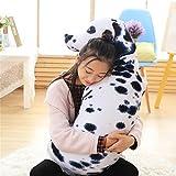 YunNasi Cute 3D lebensechte Tier Hund Kissen Dalmatiner Form Gefülltes Plüsch Hund Kissen Puppe Spielzeug, baumwolle, 90 cm