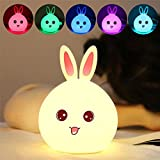Enshey Multicolore Veilleuse Lapin LED,...