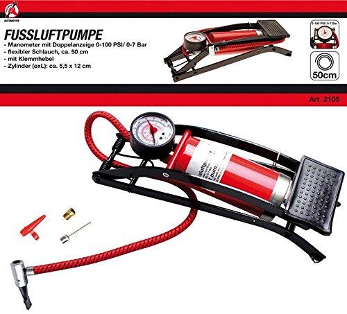 Kraftmann 2105 | Fußluftpumpe | 0 - 7 bar