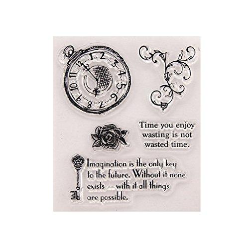 meipai klar Silikon Gummi Siegel Stempel für DIY Album Scrapbooking Foto-Karte Decor Uhr