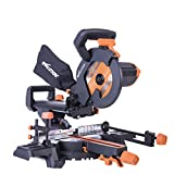 Evolution R210SMS+ Multi-Material Sliding Mitre Saw with Plus Pack, 210 mm (230V)