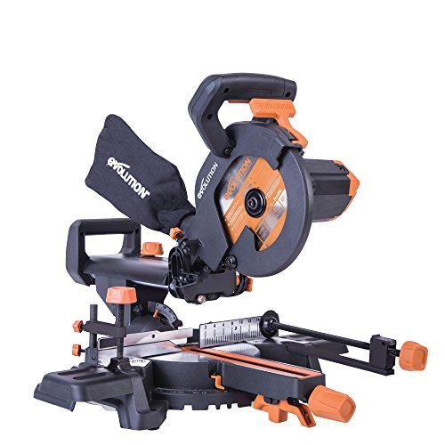 Evolution R210SMS+ Multi-Material Sliding Mitre Saw with Plus Pack, 210 mm (230 V)