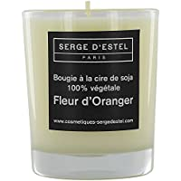 Preisvergleich für Kerze handwerkliche mit dem Duft Orangenblüte 8Stunden, pflanzliches Wachs Soja-100% natürliche