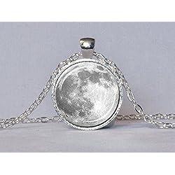 Collar Blanco Luna Llena