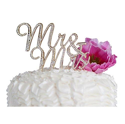Restbuy Mr & Mrs Decoración para Tarta para decoración para Aniversario de Boda Fiesta
