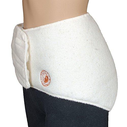 SamWo, Nierenwärmer 100% Merinowolle, elastisch mit Klettverschluss, bei 30 Grad waschbar, Konfektionsgröße L-XL