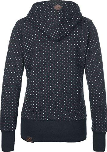 Ragwear Sweater Damen Chelsea DOTS 1721-30010 Dunkelblau Navy 2028, Größe:M