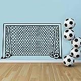 Knncch Fußball Fußball Tor Net Ball Sport Wandtattoo Vinyl Decor Kunst Wandaufkleber Für Jungen Zimmer Kinder Kindergarten Wohnkultur Wandbild