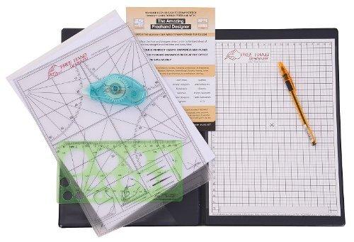 Dunkelroter Freehand Designer 'A4 Büro & Vorort Packung' - perfekte Linien und Winkel freihändig zeichnen