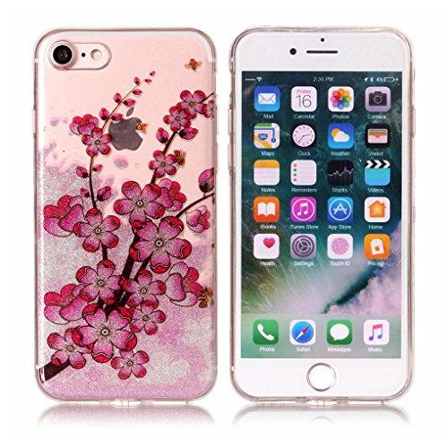 Apple iPhone 7 / iPhone 8 Hülle, SATURCASE Schönes Muster Bling Ultra Dünn Weich TPU Gel Silikon Schützend Zurück Case Cover Handy Tasche Schutzhülle Handyhülle Hülle für Apple iPhone 7 / iPhone 8 (Mu Muster-6