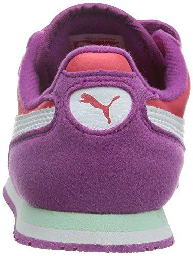Puma Cabana Racer SL V Kids Unisex-Kinder Sneakers Violett (vivid viola-geranium-white 32)