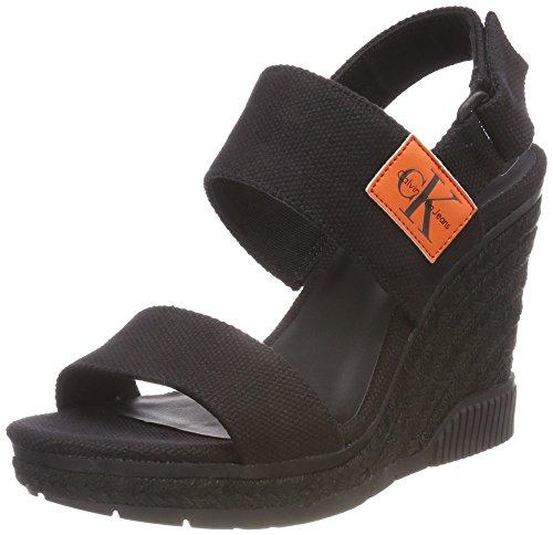 Calvin Klein Jeans Lacey Canvas, Zapatos con Tacon y Correa de Tobillo para  Mujer, 1201142f500