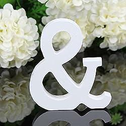 Letra de madera decorativa, ideal para bodas. Altura: 8 cm. Ancho: 6-7 cm. Espesor: 1,2 cm