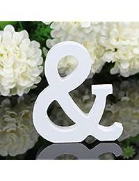 joyliveCY-1pieza Craft madera letras de madera decoraci¨®n para el hogar para fiesta de cumplea?os boda = Carta y [Clase de eficiencia energ¨¦tica A]