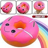 Fcostume Squishies Jumbo Giant Donut Langsam steigende Obst duftende Stressabbau Spielzeug Geschenk (AS Show)