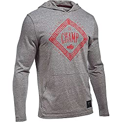 Under Armour Men's Funnel Neck T-shirts, Men, 1282315-082_s, Greyred, S