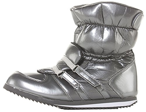Womens Black Grey Winter Warm Flat Fur Lined Rain Waterproof Sole Ski Wellies Wellinton Ladies Snow Boots Size 3 4 5 6 7 8 9