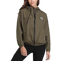 Women's Waterproof Jackets Outdoor Raincoats Waterproof with Hood Lightweight Active Rain Jacket Windbreaker for Cycling…