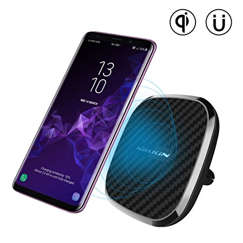 Nillkin Fast Magnetic Wireless Car Charger, Qi Wireless Auto-Ladegerät Pad mit Car Holder für iPhone X, 8/ 8Plus, Samsung Galaxy S9 S9 Plus S8 S8 Plus und andere Qi Geräte