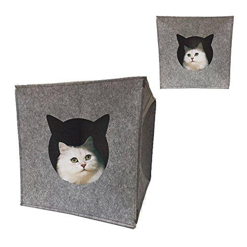 Katzenhöhle Filz Cube Höhle Haus für Katze katzenhöhle zum schlafen Kuschelhöhle Passend für IKEA Regal