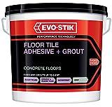 Evo Stik Tile A selbstklebend &Fugenmörtel für Betonboden, Grau, 10 L