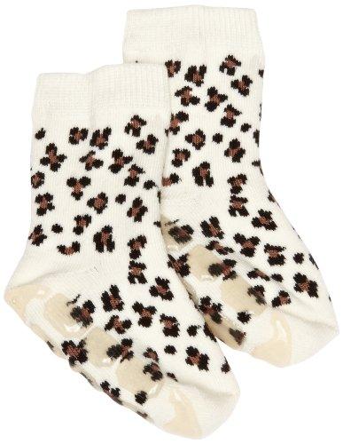 Country Kids Baby (Unisex Socken Slipper Sock W Leopard, Gr. 146 (Herstellergröße:9-11 Years), Braun (Brown)