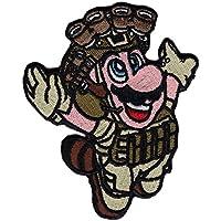 Hook Fastener Tactial Morale Patch Mario Fly Tanuki Old School Operator Milsim Parche Táctico Bordado Gancho