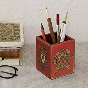 Back To School Wooden Pen Pencil Holder Desk Stationary ...